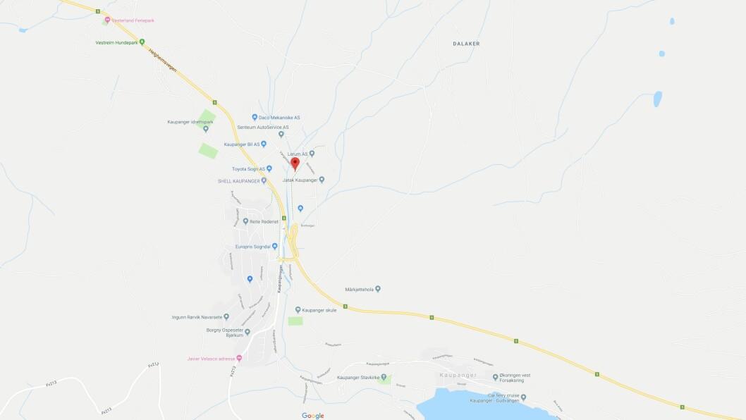 ULUKKE: Ulukka skjedde i Kloppavegen på industrifeltet på Kaupanger.