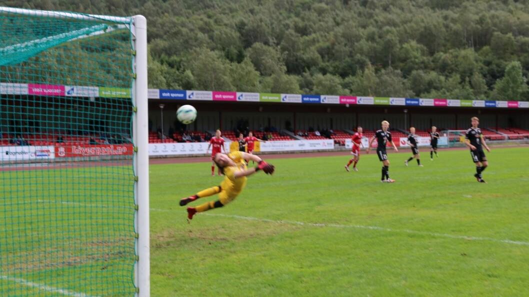 3-2 målet: Etter 51minutt sette Eirik Rode 3-2 målet og sende heimelaget i leiinga.