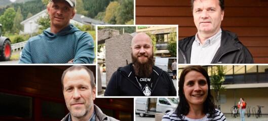 Fem i Høyanger kommune om valet
