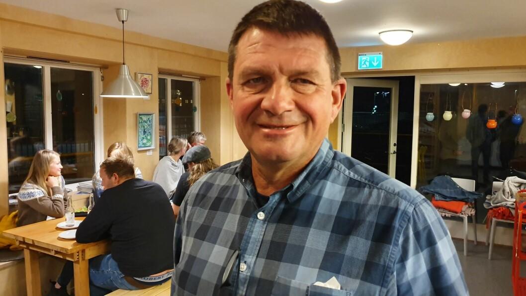 VINNARGLIS: Trygve B. Skjerdal (Sp) kunne smila breitt over røysteresultata i Aurland.
