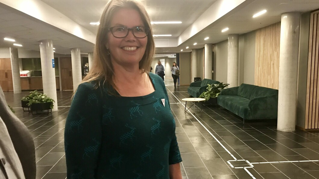 SAMDE: Vibeke Johnsen (SV) vert varaordførar i Sogndal, etter at Senterpartiet og SV vart samde i forhandlingane seint tysdag kveld.