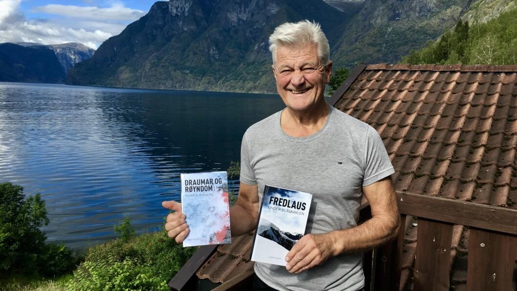 LOKALE RAMMER: Haakon Skjerdal fortel at hendingane i bokserien Under Blåskavlen utspelar seg på stader i nærområdet.