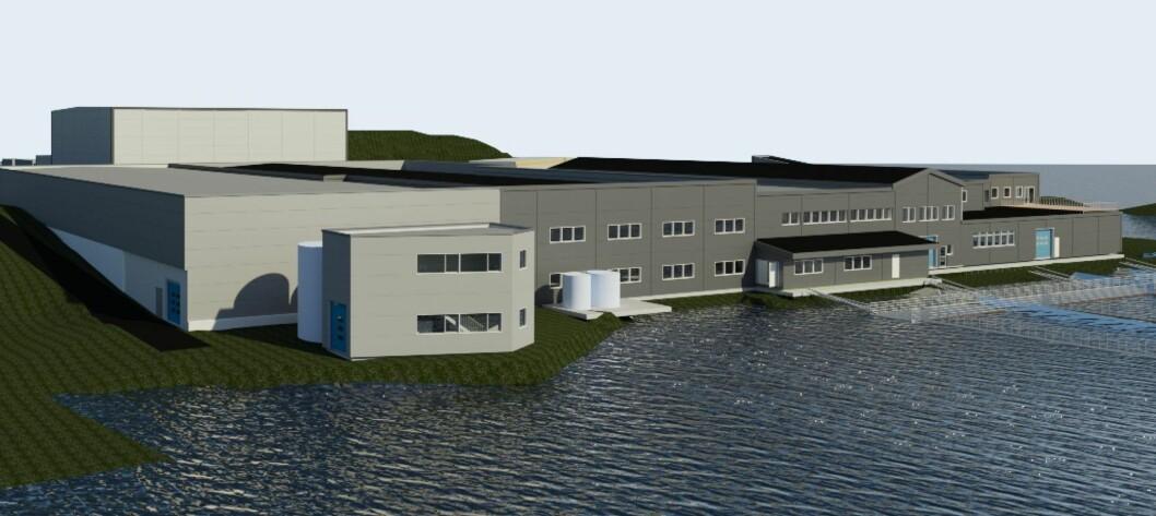 ANLEGG: Slik vil det nye anlegget på Byrknesøy kunne sjå ut.
