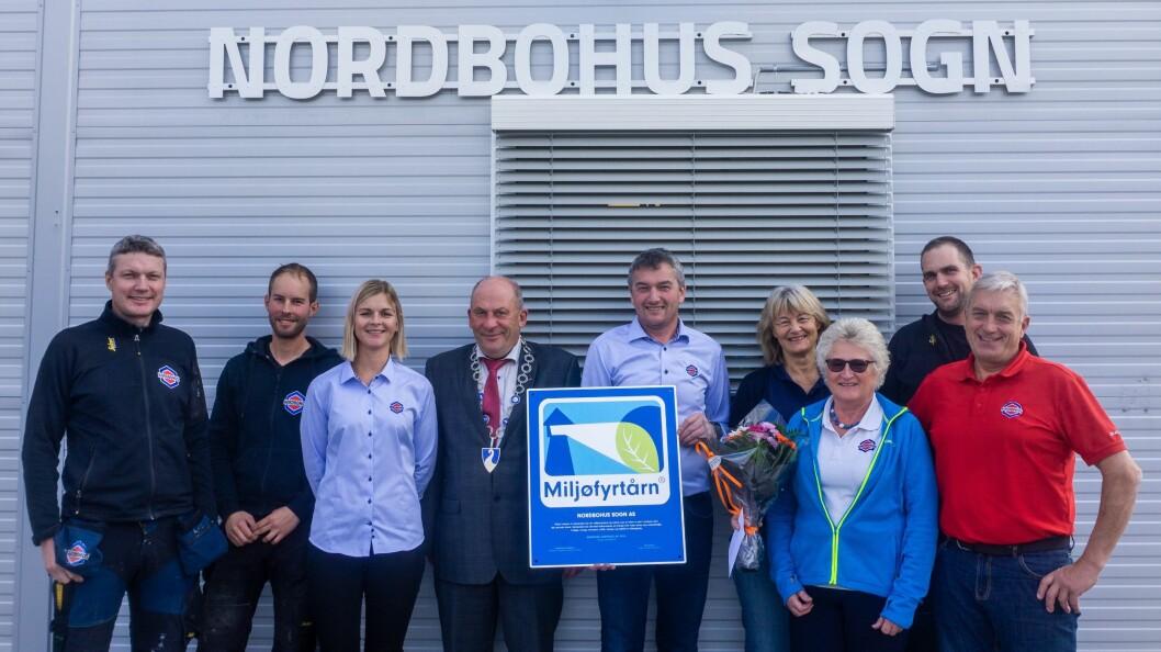 SERTIFISERT: Tømrarbedrifta Nordbohus Sogn i Kaupanger har fått miljøsertifisering.