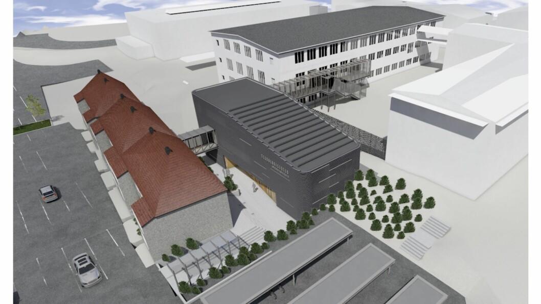 TEKNOLOGIPARK: I Årdal er det planar om å bygga ein teknologipark med øvingsfabrikk like ved aluminiumsverket i Øvre Årdal.