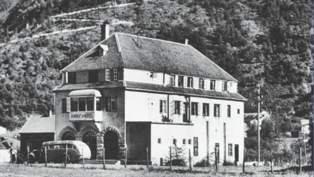 ÅRDAL HOTELL: Bygget ein gong etter 1948.