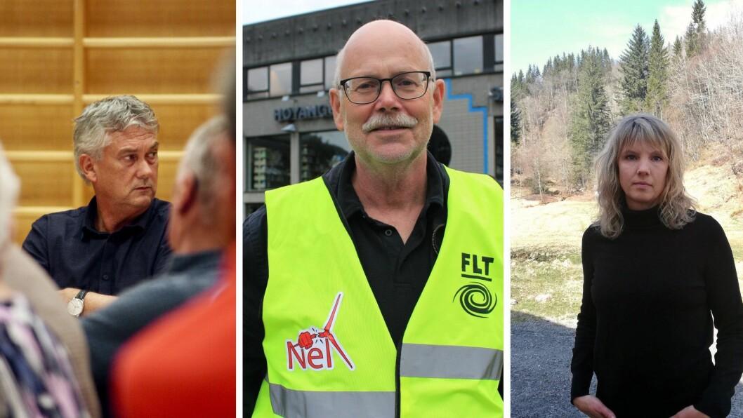 IKKJE SEMJE: Ap og ordførar Petter Sortland (t.v.) ønskte ikkje å gå med på krava frå Raudt og Einar Rysjedal (midten) og SV og Tanja Strandheim (t.h.).
