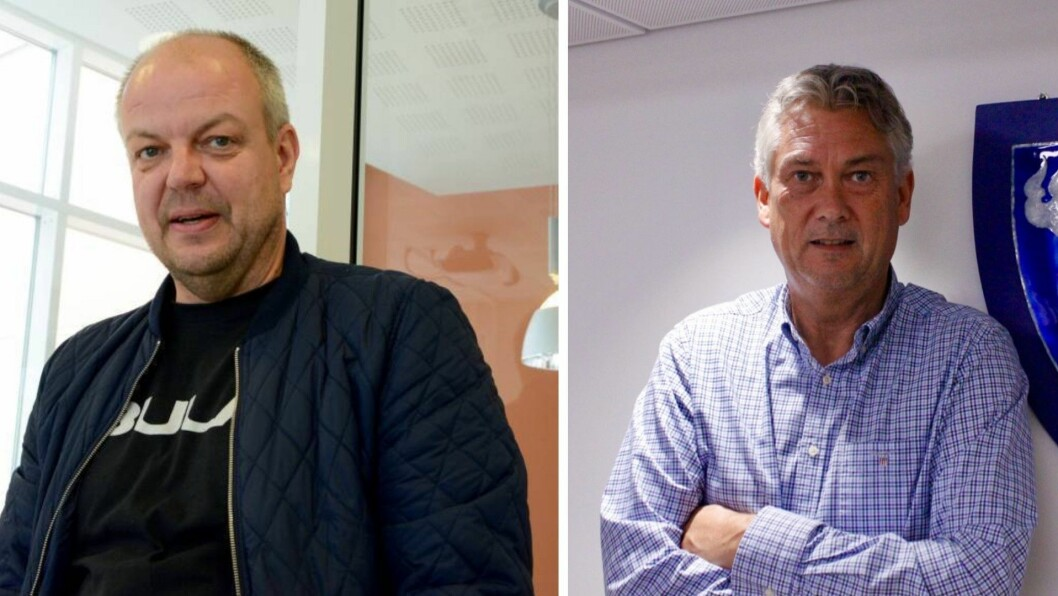 SINTE: Påtroppande ordførar Hilmar Høl (Ap) i Årdal og ordførar i Høyanger, Petter Sortland (Ap), liker dårleg dei føreslåtte endringane i kraftskatten.