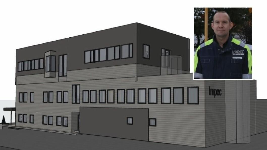 BYGGJER UT: Impec skal byggja ny etasje på lokala i Årdal.