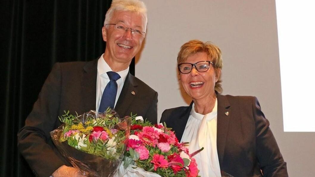FYLKESORDFØRAR: Anne Gine Hestetun skal vera fylkesordførar for Hordaland ut året. Då trer Vestland fylkeskommune i kraft, der Jon Askeland er nyvald fylkesordførar.