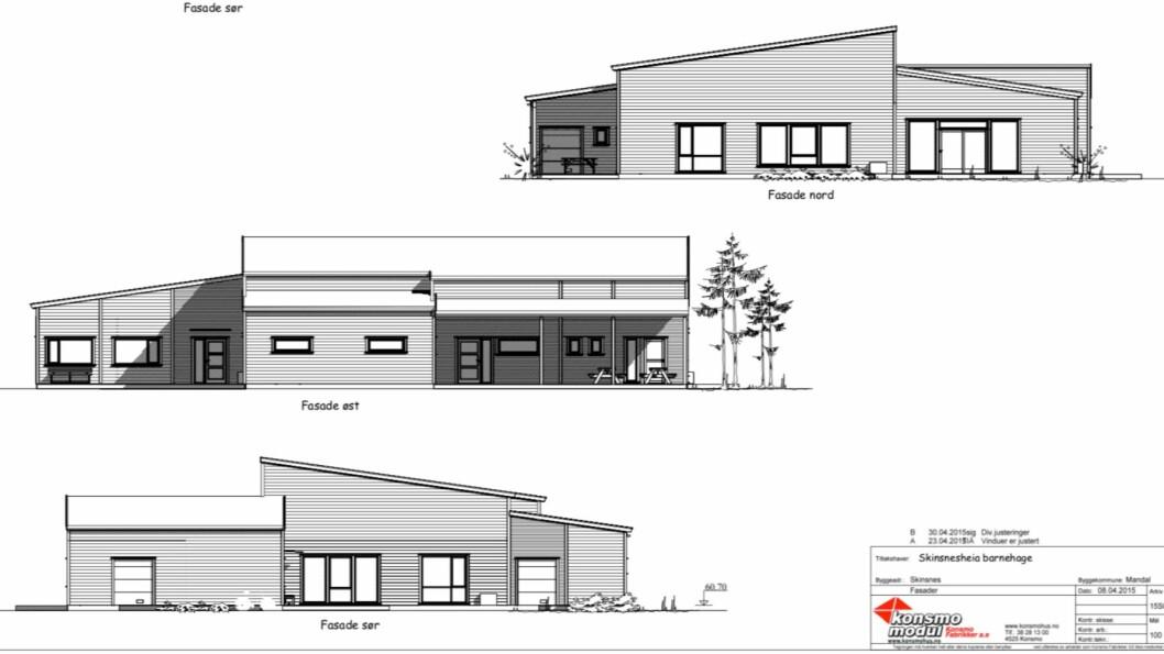 TILBOD: Steelhead Invest AS tilbyr Gulen kommune å byggje denne barnehagen på Byrknesøy, anten til sals eller til leige.
