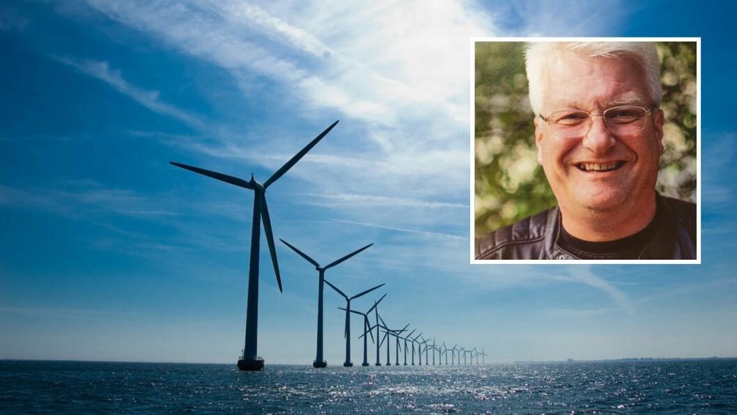 HAVVIND: Leiar av LO Ytre Sogn og Høyanger kjemiske industriarbeiderforening, Lars Kjetil Skeie, meiner norske myndigheiter bør satse på havvind i staden for landbasert vindkraft.