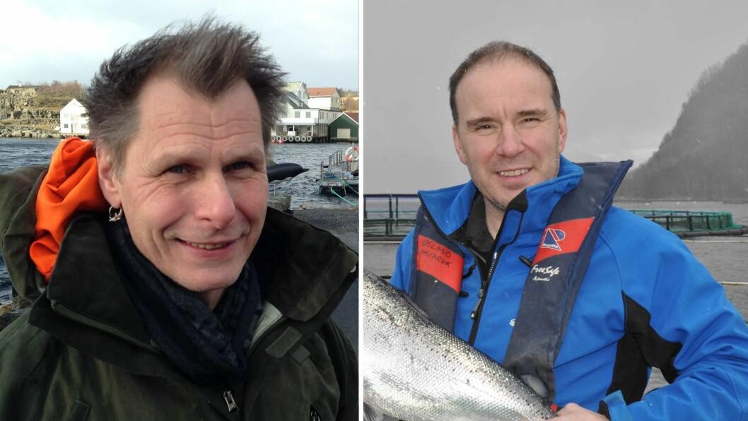 PÅ TOPP: OIa Braanaas (t.v.) har størst formue i fylket, medan Erik Osland (t.h) hadde størst inntekt blant fiskeoppdrettarane i 2018.