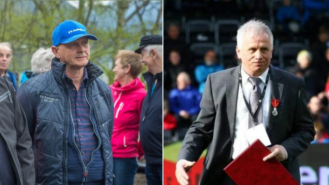 TENTE BRA: Leif Norvald Fimreite og Rolf Navarsete var på topp tre av dei med høgast inntekt i Sogndal i 2018.