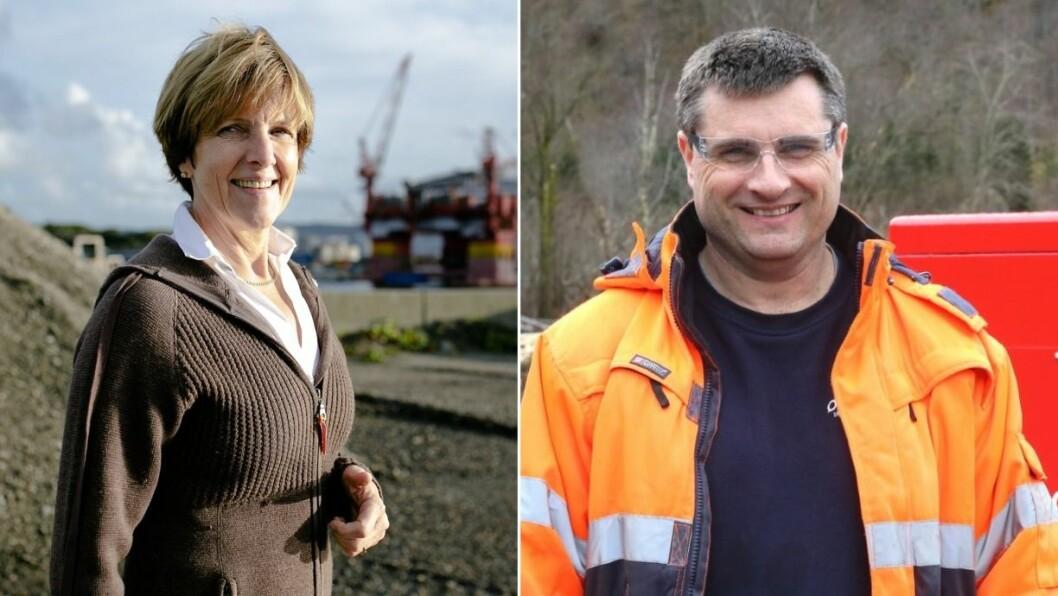 I TOPPEN: Irene Kjelby Wergeland og Steinar Holen greidde begge å snike seg med på topp ti av dei med høgast inntekt av bedriftsleiarane i Ytre Sogn.