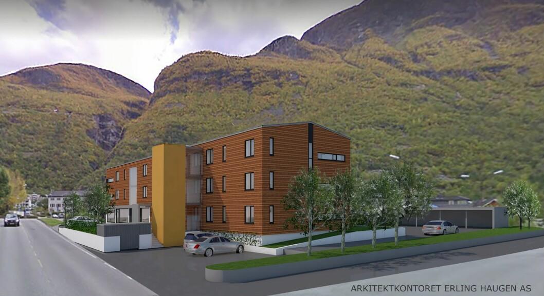 NYTT PROSJEKT: Kommunen har vedteke å kjøpa to leilegheiter i Krysset Burettslag i Årdal.