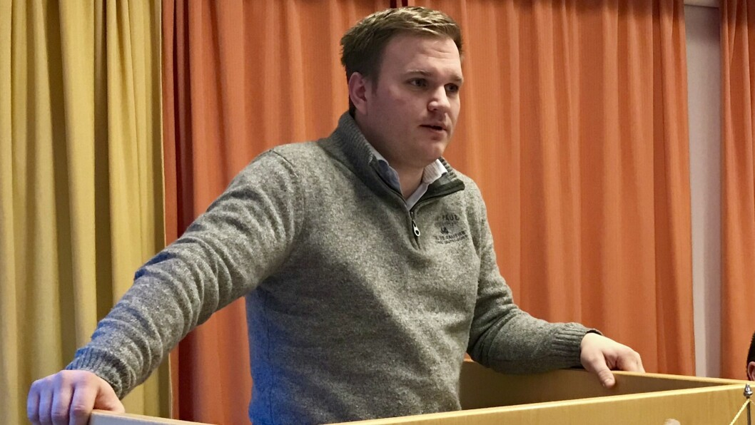 HAR TRUA: Aleksander Øren Heen (Sp) liker det nye slagordet, og håper emneknaggen finn vegen til kommunevåpenet.
