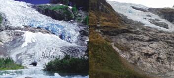 Bøyabreen har minka kraftig på 22 år: - Vemodig