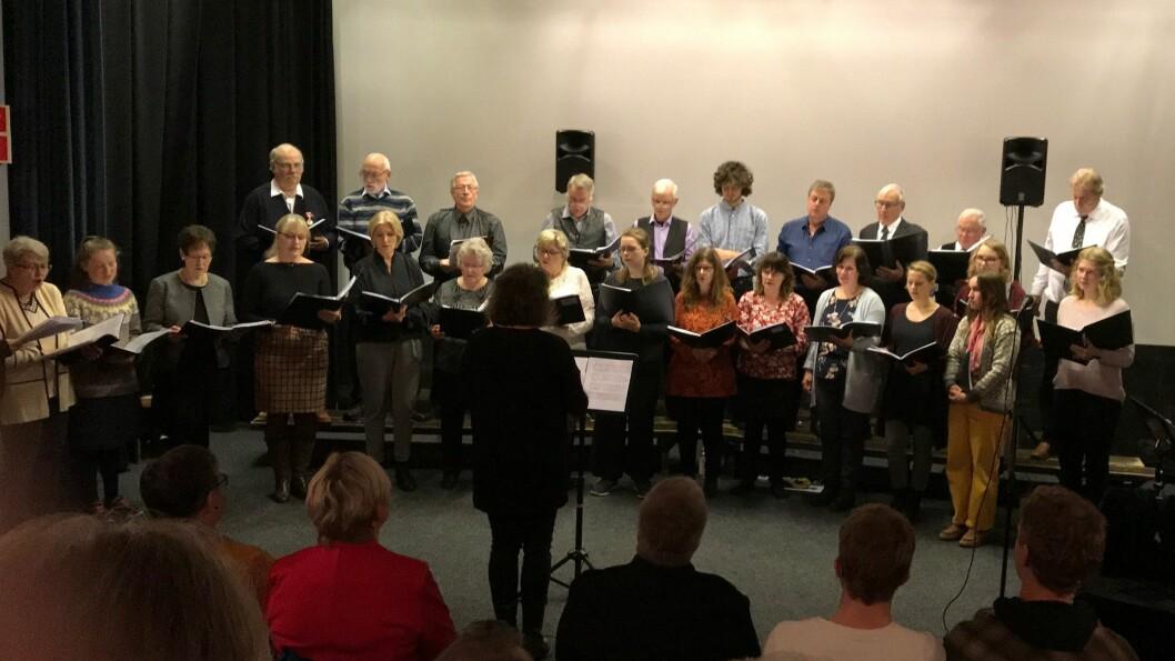 KONSERT: I går heldt Aurland songlag jubileumskonsert.