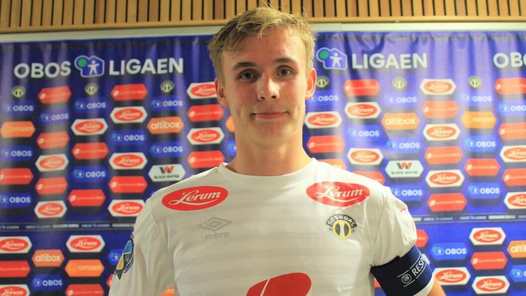 NOMINERT TIL GJEV PRIS: Sogndal-spelar Sivert Mannsverk (17) frå Årdal er nominert til årets gjennombrotsspeler i OBOS-ligaen.