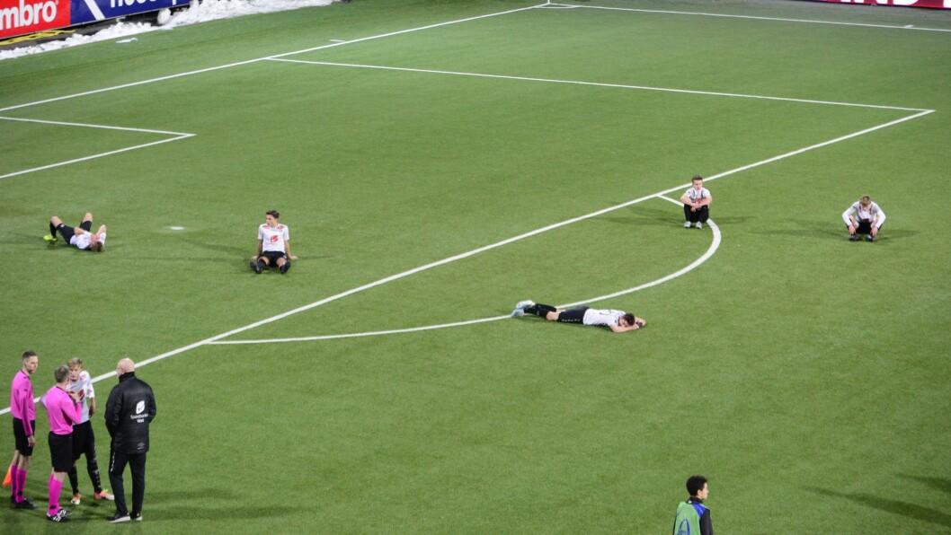 DRAMA: Eventyret til Sogndal i Youth League stoppa onsdag, trass 3-1 siger mot Sheriff.