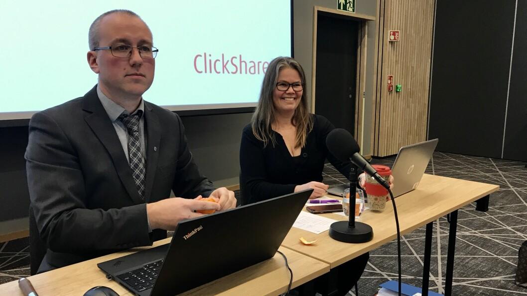KREVJANDE START: Ordførar Arnstein Menes (Sp) og varaordførar Vibeke Johnsen (SV) får ein tøff jobb med å balansera økonomien til den nye kommunen.