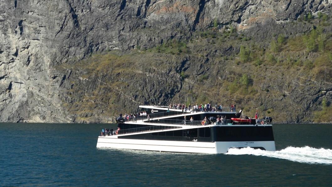 NY SJEF: The Fjords-konsernet har tilsett ny dagleg leiar. På biletet: den elektriske båten Future of the Fjords.