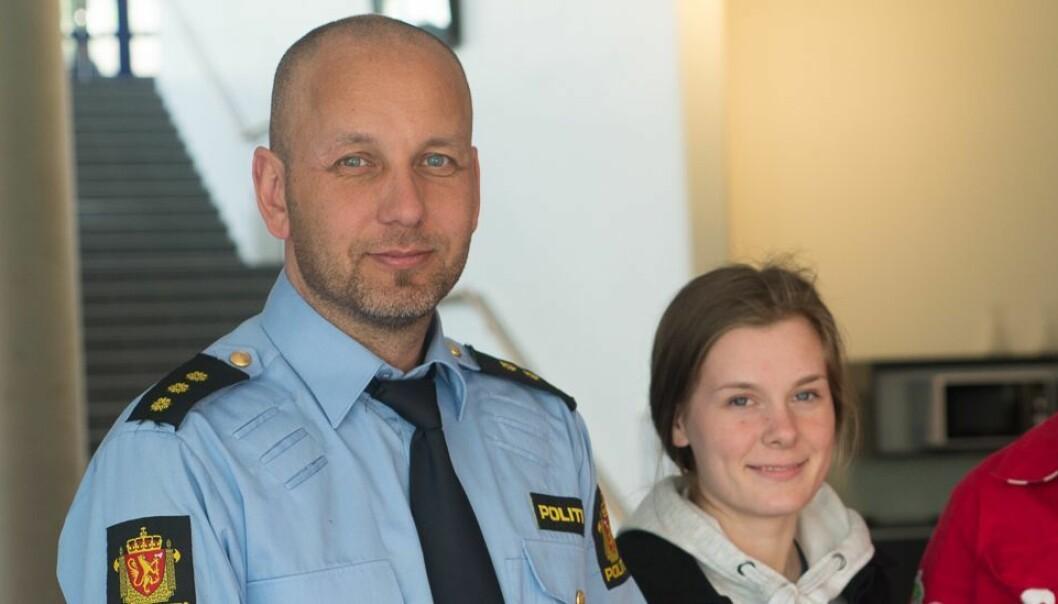 POLITISTASJONSJEF: Magne Straumsteim kan frå og med måndag tittulere seg som politistasjonssjef.