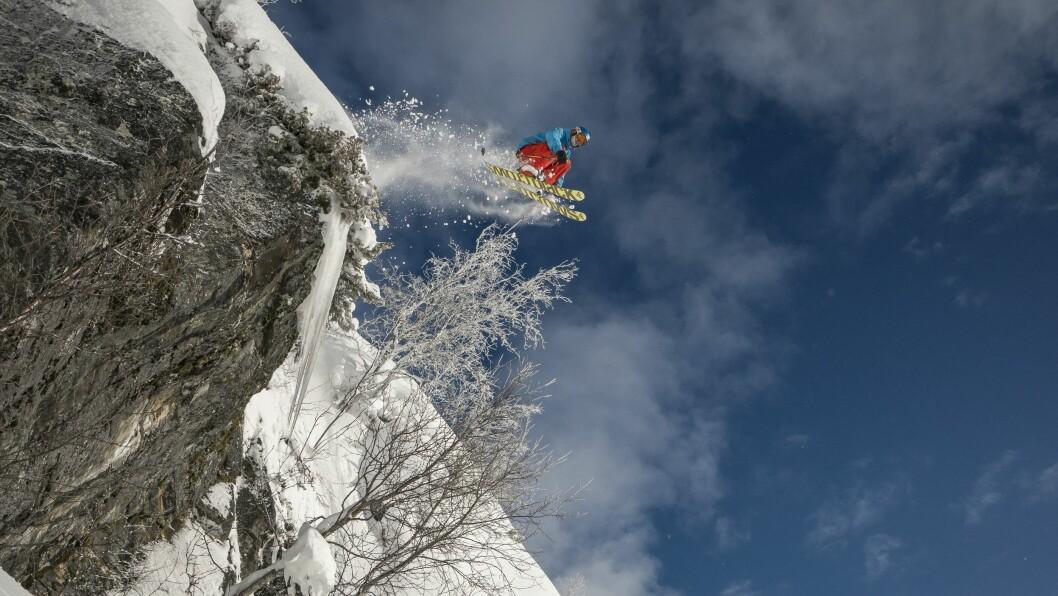 Dette blikskotet erteke under ein fotoshoot for skimagasinet Fri Flyt på Sogn Skisenter.