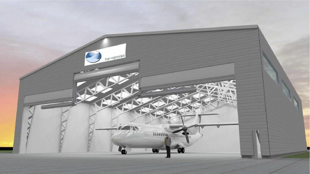 SNART KLAR: Hangaren på Haukåsen blir noko dyrare enn venta.