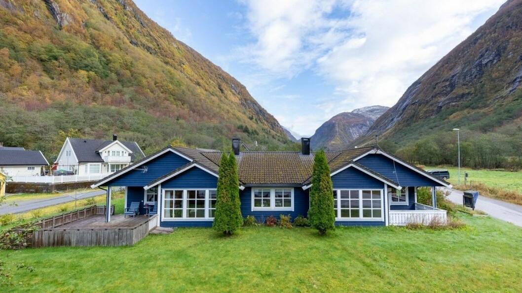 DYRASTE: Dette er den dyraste eigedommen som ligg ute for sal i Høyanger.