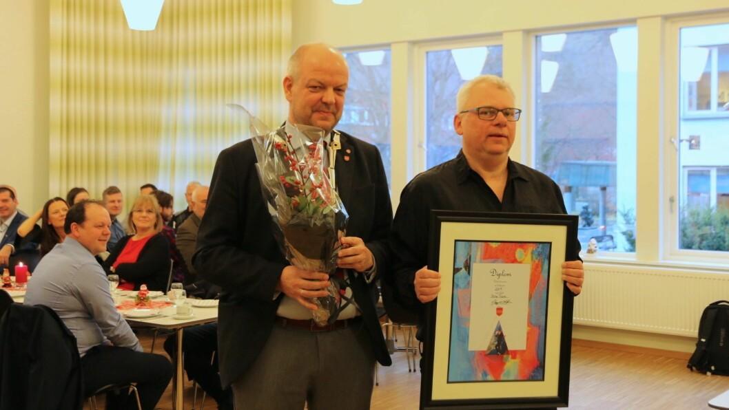 KULTURPRISEN: Steinar Fodnes fekk kulturprisen 2019 for sin innsats for kulturen i Årdal i over 30 år.