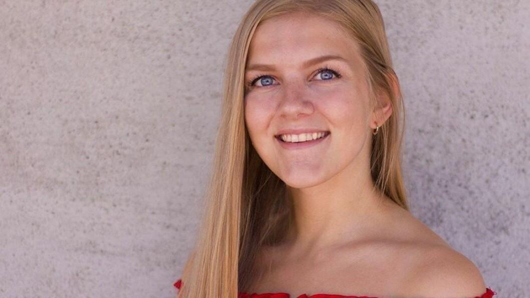 JULEFERIE: Maria Eide er for tida heime i Eidsbotn for å feira jul med familien.
