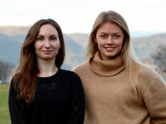 SATSING I YTRE SOGN: Vilde Grimelid Oppedal og Synne Asheim Haga, begge frå Gulen, synest det er stas å kunne levera ultralokale nyheiter, også i heimkommunen.