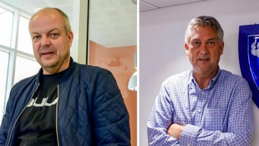 Tett på Politikken: Ordførarane Hilmar Høl (Årdal) og Petter Sortland (Høyanger) set pris på at Porten.no er tett på politikken.