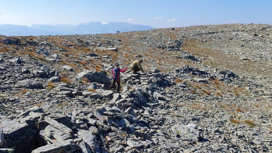 IMPONERANDE SYN: Helleberget på Aurlandsfjellet var i bruk fram til skytevåpenet gjorde det utdatert.