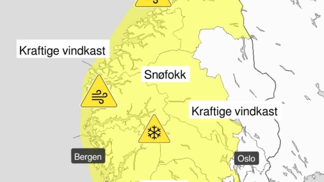 STERK VIND: Meteorologane varslar kraftig vind for Sogn og Fjordane og Møre og Romsdal torsdag og fredag. Det kan koma vindast med 25-33 m/s.
