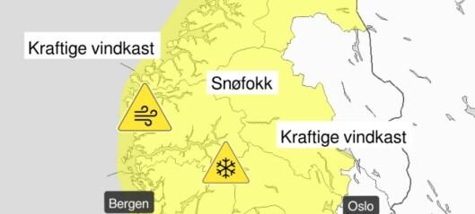 Varslar kraftige vindkast i fjellet og på kysten, meteorolog: - Reisande må vera obs