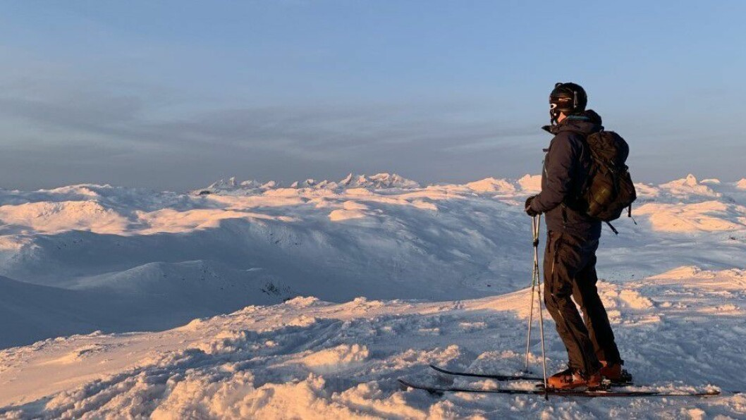 FILEFJELL: Kjartan Smedegård på skitur tredje juledag.