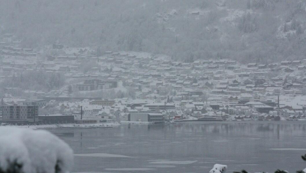 UTAN STRAUM: Delar av Sogndal kommune var  utan straum.