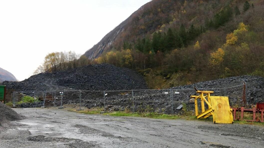 NO: Slik ser deponiet på Storseten i Høyanger ut per i dag.