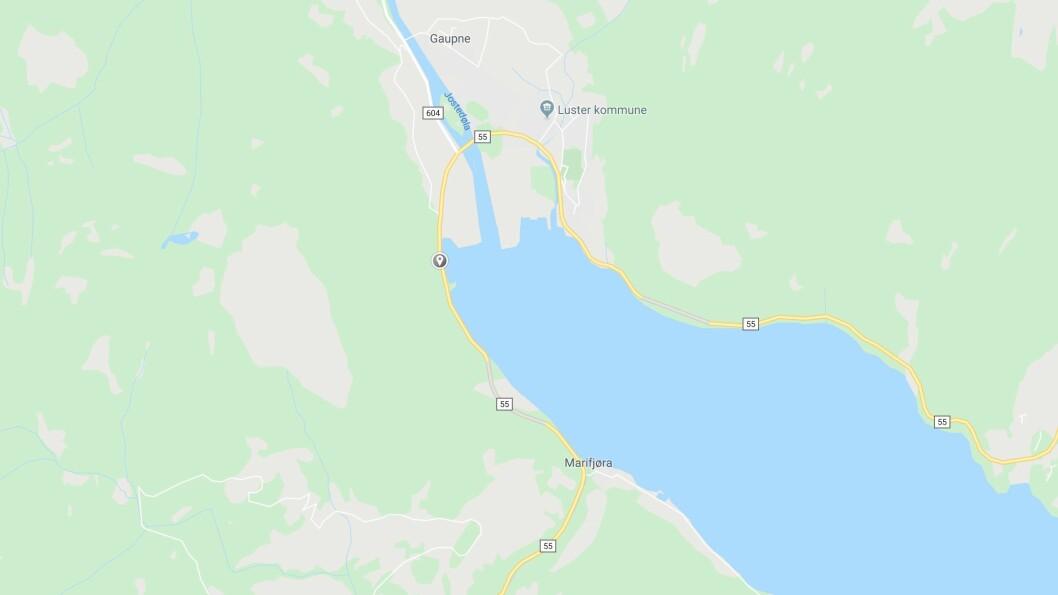 RAS: Eit ras har gått mellom Gaupne og Røneidtunnelen, på vegen mellom Sogndal og Luster.