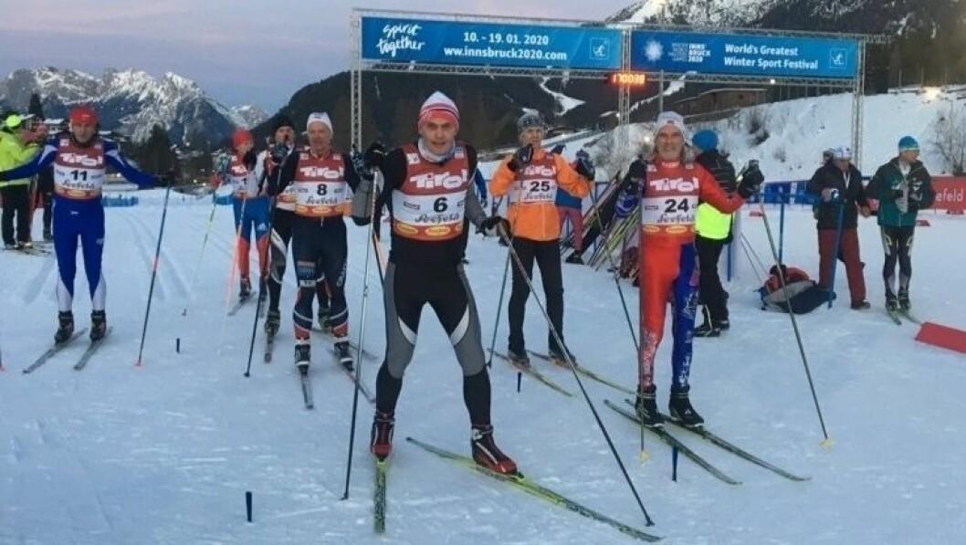Jon Ove Lomheim på startstreken før vinnarløpet.