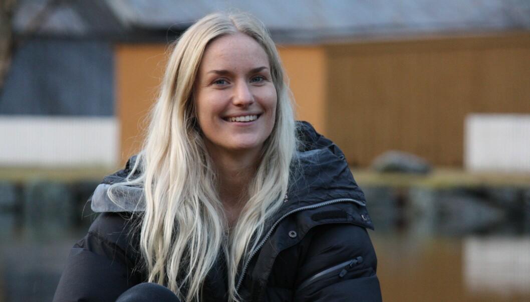 MÅ VENTA: Marie Lokreim har ein kjæraste frå eit land som ikkje ein gong får søkja om å koma inn i Noreg.