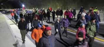 Folkevandring i nye Rødølstunellen