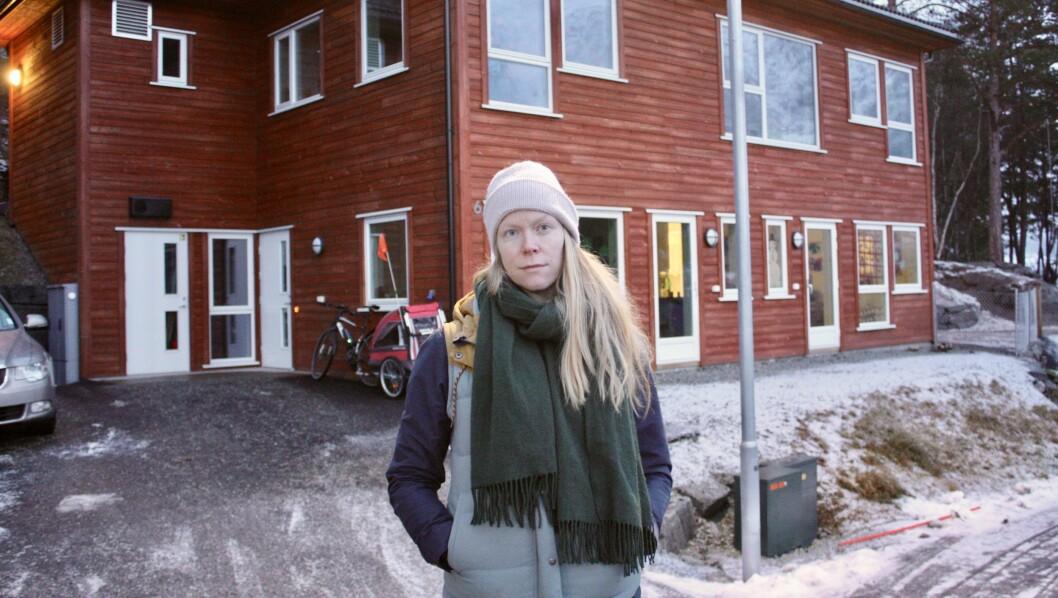 OPPGITT: På grunn av barnegrunnlaget på Kjørnes, meiner foreldrerepresentant ved Kjørnes barnehage, Ingrid Buvarp Aardal, at det beste er å gjera dei mellombelse avdelingane i barnehagen permanente.