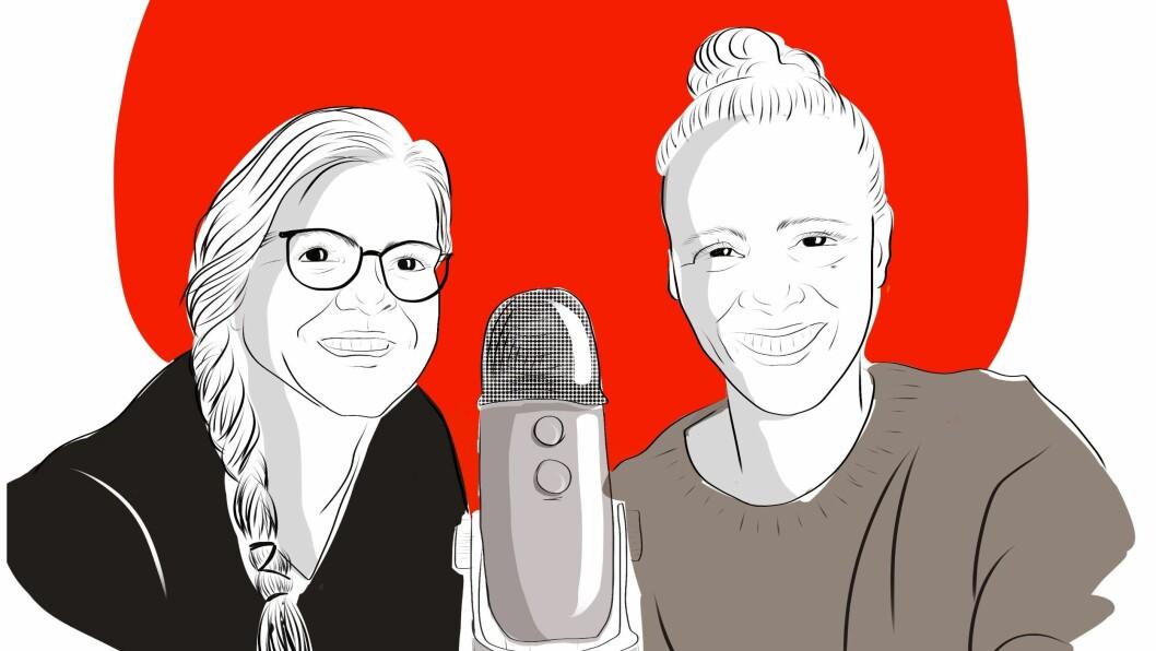 SKULE OG UTDANNING: Oddrun Midtbø og Torunn Todal Laberg tek føre seg tema og problemstillingar kring skulestrukturen og dei vidaregåande skulane i fylket i Porten-podden. Podcasten er ein del av reportasjeserien «Sogningen i Vestland»