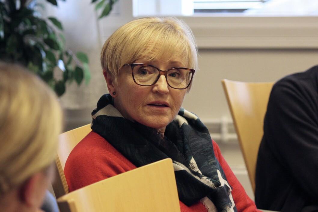 SENTERPARTIET: Liv Signe Navarsete reagerer på den nye langtidsplanen for Forsvaret.
