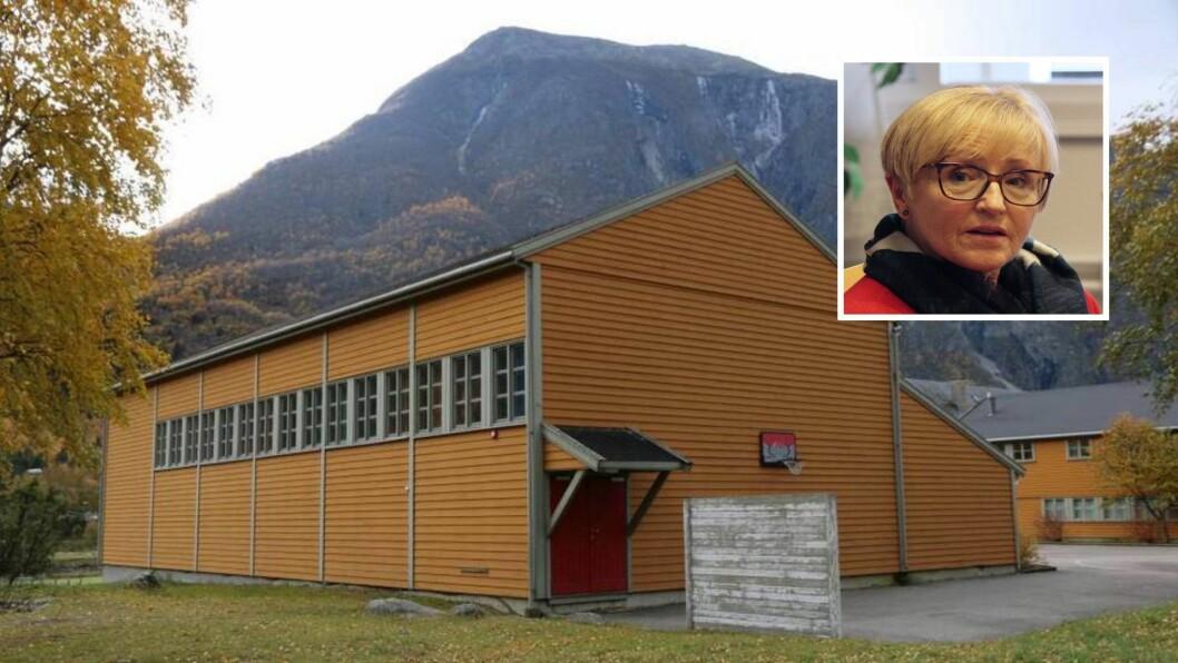 – Det viktig at det er samlingsplasser, sa Liv Signe Navarsete då ho foreslo å selja skulebygget, men ikkje idrettshallen.