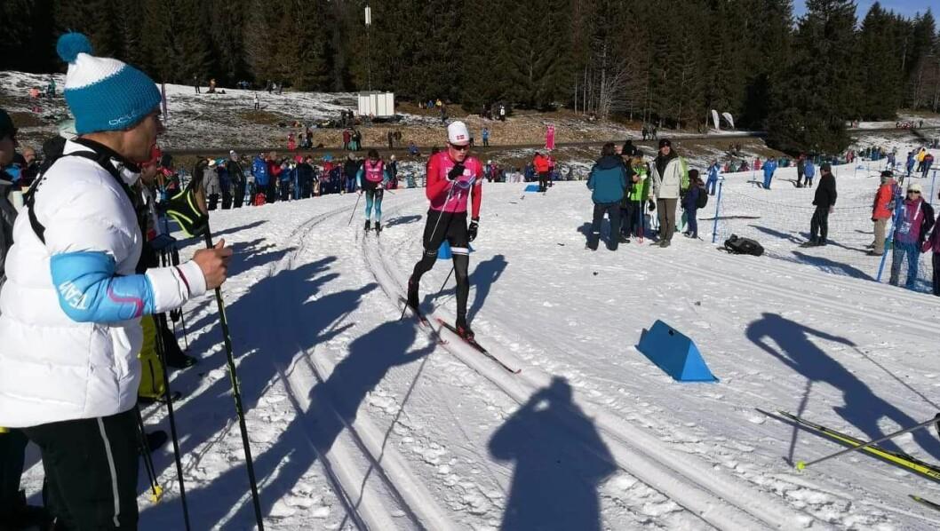 STOR FRAMGANG: Hjalmar Michelsen har teke store steg kvar einaste sesong sidan han byrja med langrenn for tre år sidan. Her går han 10 kilometer klassisk i ungdoms-OL i Lausanne i januar.